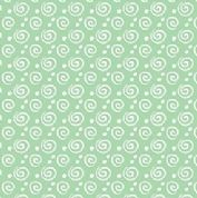 Kanvas Studio Breezy Baby - 4504 - White Swirls on Mint Green - 8211-04 - Cotton Fabric